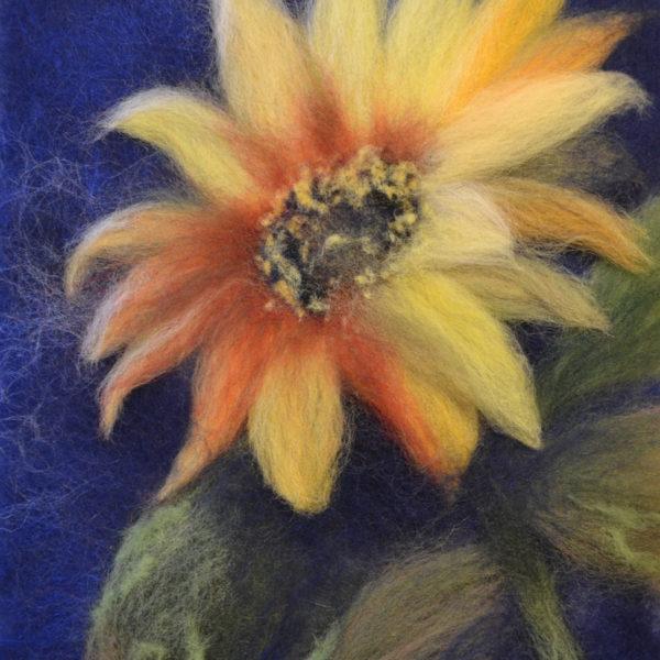 "Wool Painting ""Sunflower"""