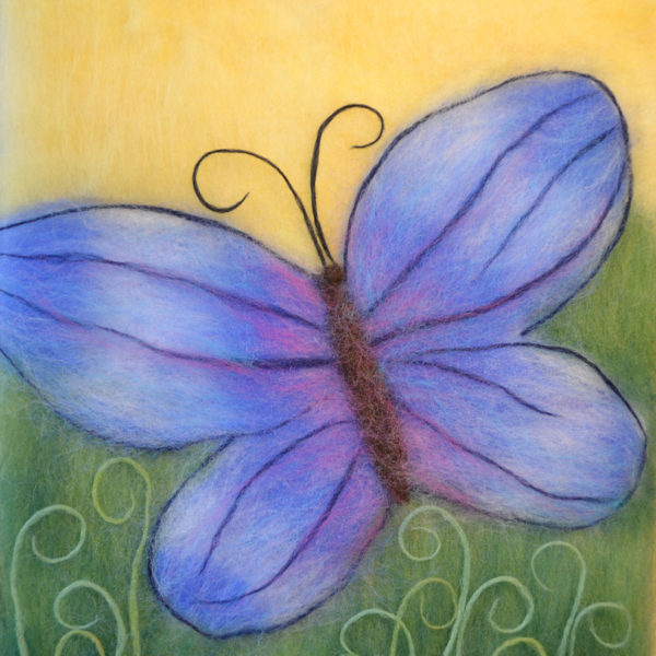 """Wool Painting """"Butterfly"""""""