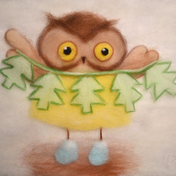 Owl Art Work for Kids