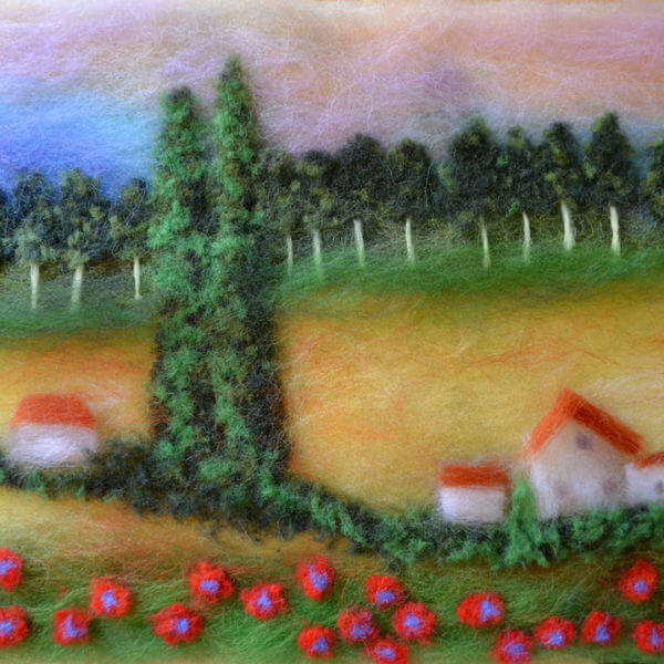 "Wool Painting ""Motherland"" summer landscape"