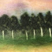 "Fragment of the wool painting ""Motherland"" forest"
