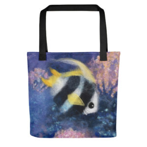 "Tote Bag ""Fish Under The Sea"" 15x15"