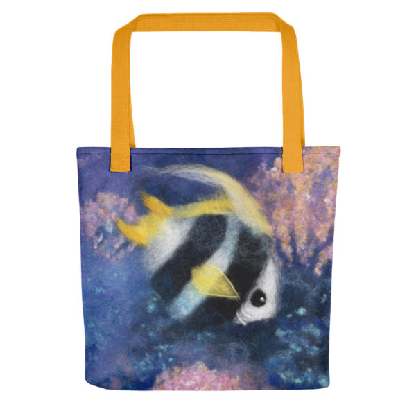 "Tote Bag ""Fish Under The Sea"" 15x15"