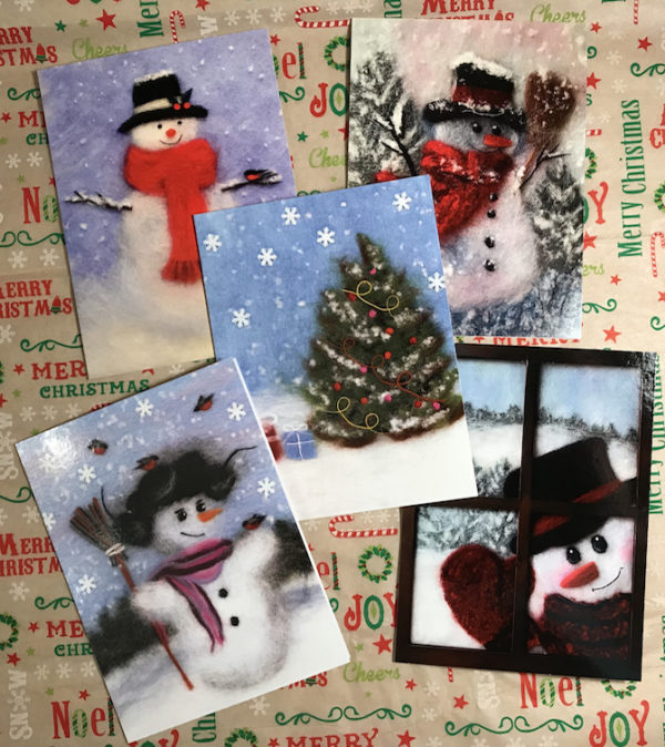 Christmas Cards With Envelop Blank On The Inside, Holiday Greeting Cards
