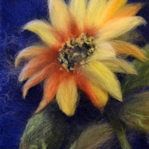 "Wool Painting ""Sunflower"" by Oksana Ball"