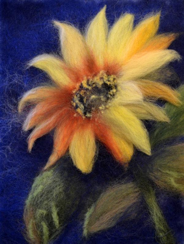 "Wool Painting ""Sunflower"" by Oksana Ball"