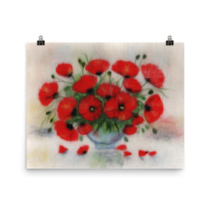 "Floral Art Print ""Bouquet Of Poppies"""