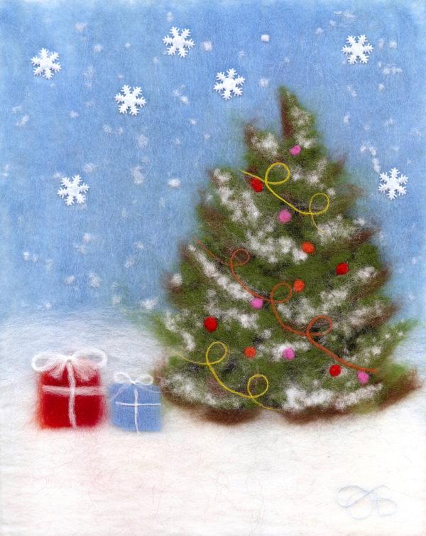 "Wool Painting ""Christmas Tree"" by Oksana Ball"