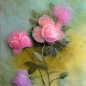 "Wool Painting ""Roses"" by Oksana Ball"