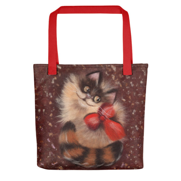 "Tote Bag ""Ginger Cat"" 15x15"