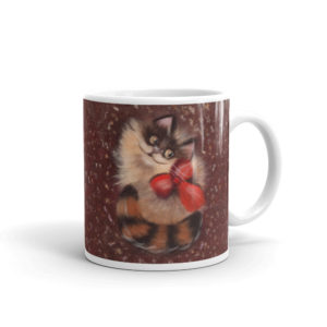 Ceramic Mug 11oz, Printed on both sides, Cat, Animal, Cat portrait, Animal portrait