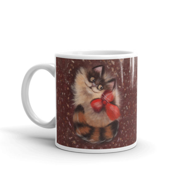 "Unique Ceramic Coffee Mug ""Ginger Cat"", Animal Mug, Cat Mug"