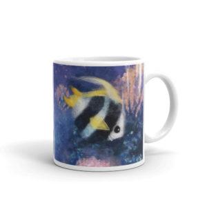 """Unique Ceramic Coffee Mug """"Fish Under The Sea"""""""