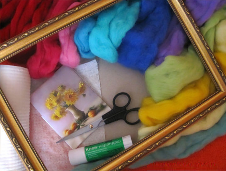 Substrate materials for use in wool paintings
