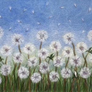 """Dandelions"" Wool Painting"