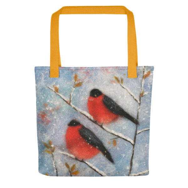 "Bird Tote Bag ""Owl In The Autumn Forest"", Reusable Grocery Shopping Tote Bag, Fabric Shoulder Bag"