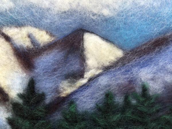 """Wool Painting """"Mountain Landscape"""" by Oksana Ball"""