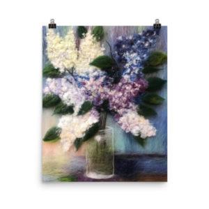 """Print """"Bouquet Of Lilacs"""""""