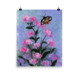 """Print """"Butterfly In Flowers"""""""