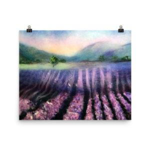 "Landscape Wall Art Print ""Lavender Field"" Nature Wall Art Decor"