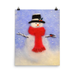 "Christmas Wall Art Print ""Snowman"""