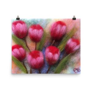 """Flower Art Print """"Tulips"""" Floral Wall Art Decor"""