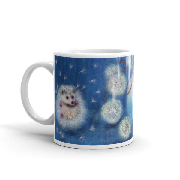 """Ceramic Coffee Mug """"Hedgelion"""", Animal Mug, Floral Mug, Tea Cup"""
