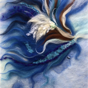 "Wool Painting ""Mermaid"" by Oksana Ball"