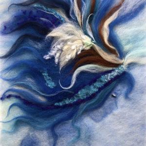 "Wool Painting ""Mermaid"" by Oksana Ball"