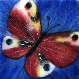 "Wool Painting ""Butterfly"" by Oksana Ball"