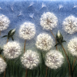 "Wool Painting ""Dandelions"" by Oksana Ball"