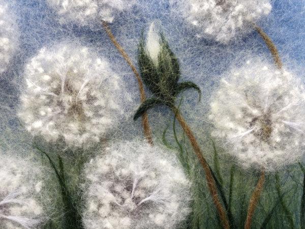 "Wool Painting ""Dandelions"" by Oksana Ball"