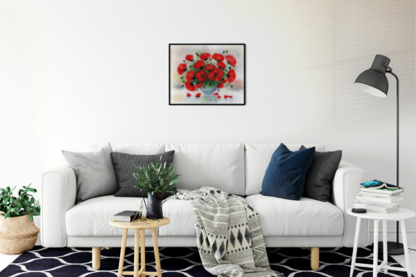 """Print """"Bouquet Of Poppies"""""""
