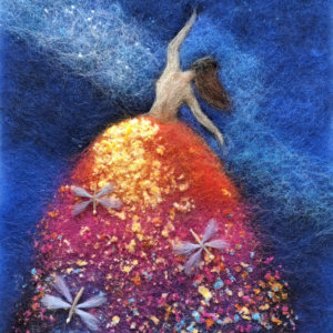 "Wool Painting ""Fairy With Dragonflies"" by Oksana Ball"