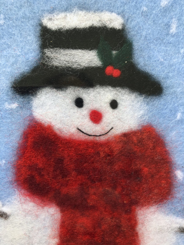 "Wool Painting ""Snowman"" by Oksana Ball"