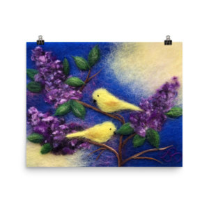 """Print """"Birds On Branches Of Lialc"""""""