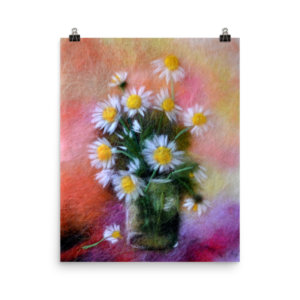 """Print """"Bouquet Of Daisies"""""""
