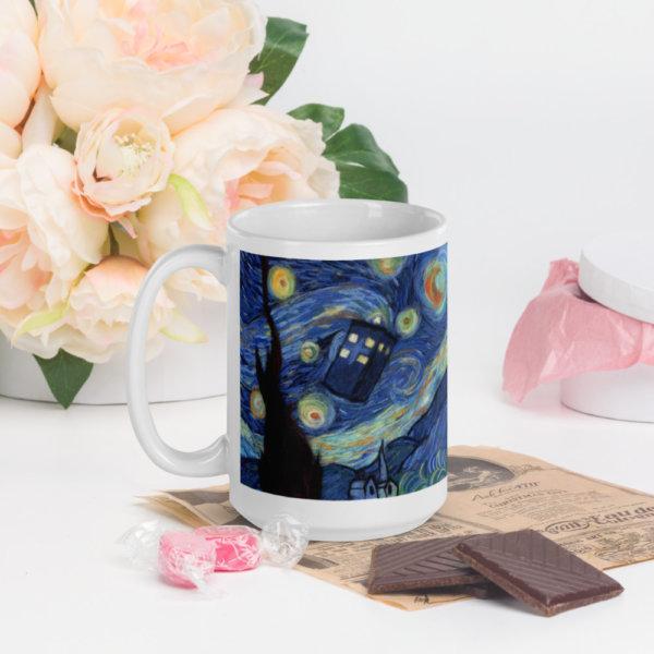 """Ceramic Coffee Mug """"Starry Night"""""""